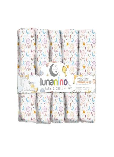Lunanino Müslin Bebek Ağız Bezi 5 Adet Mihrimah Renkli